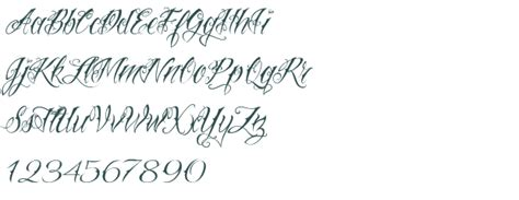 tattoo fonts preview fonts script