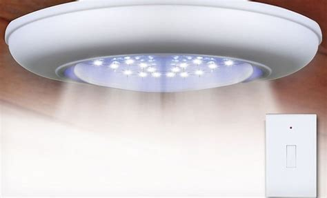 Wireless Ceiling Wall Lights Groupon Goods Wireless Ceiling Light With Remote