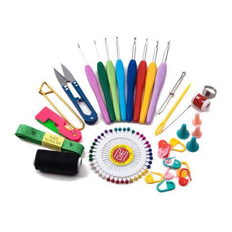 knitting supplies 34pcs set of household sewing crochet crafts magic kit