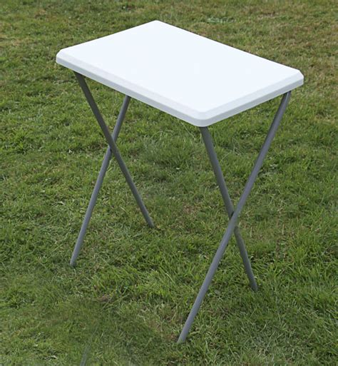 Small White Folding Table Small Outdoor Garden Table 52cm X 38cm Cing Table White Folding Table Ebay