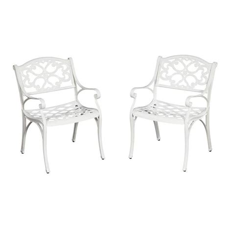 home styles biscayne white patio dining chair 2 pack