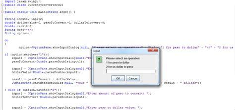currency converter java program java inettutor com part 2