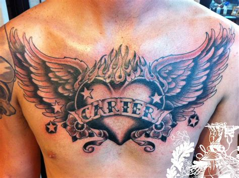 open heart design tattoo open chest chest images