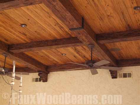 Faux Wood Ceiling by Seamless Beamed Ceiling How To Faux Wood Workshop