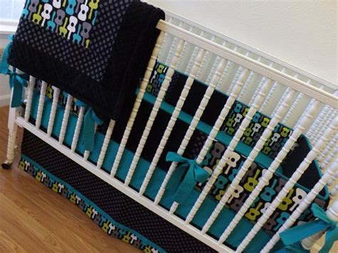 Guitar Crib Bedding 406 Best Images About Lagoon Groovy Guitars On Baby Rock And Baby Boy Cribs