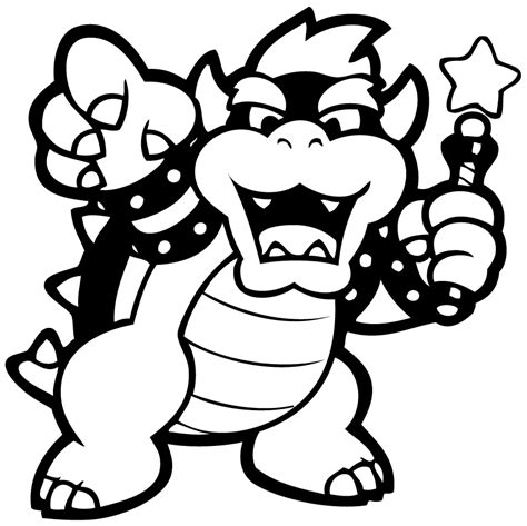 bowser and bowser jr coloring pages bowser coloring pages