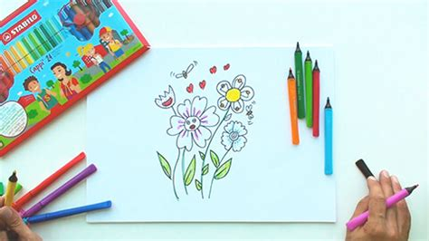 Stabillo Flower Stabillo Motif Bunga drawing tutorials www stabilo