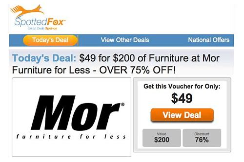 mor furniture discount coupons