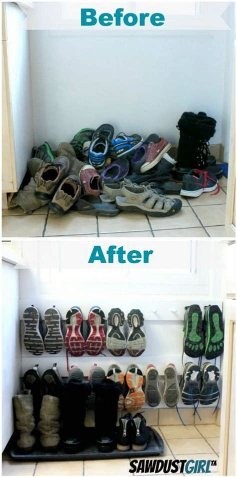 Sneaker Garage by 40 Clever Closet Storage And Organization Ideas Hative