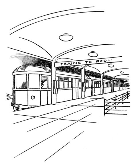 Nyc Subway Coloring Page Subway Car Coloring Pages Oh The Places We Ll Go