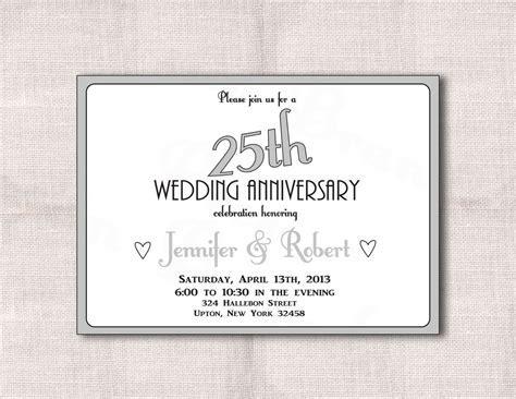surprise 25th wedding anniversary invitation templates