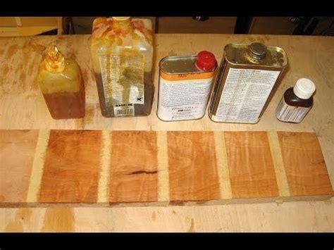 Öl Finish Vergleich   Holzwerken   YouTube