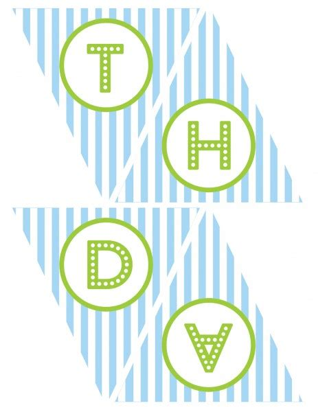 printable birthday banner blue free blue and green boy birthday printables from green