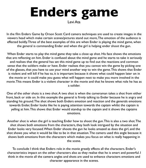 game design essay ender game essay prompt drugerreport best free home