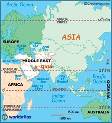 Qatar On World Map by Qatar Latitude Longitude Absolute And Relative Locations