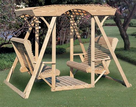 face to face glider swing treated pine dutchman face to face swing