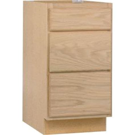 unfinished oak kitchen cabinets home depot assembled 18x34 5x24 in base kitchen cabinet with 3