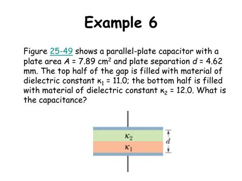 a parallel plate capacitor of capacitance 6 0 ppt chapter 25 capacitance powerpoint presentation id 1273313