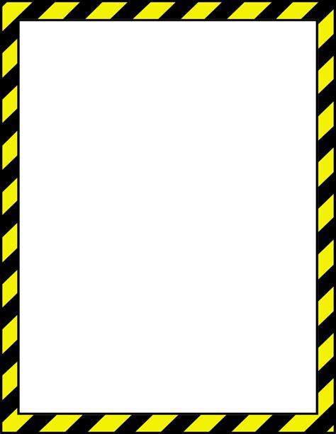 caution border page fonts borders clip