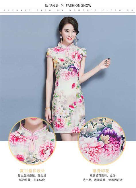 Reseller Baju Imlek baju imlek dress motif bunga 2018 jual model terbaru murah