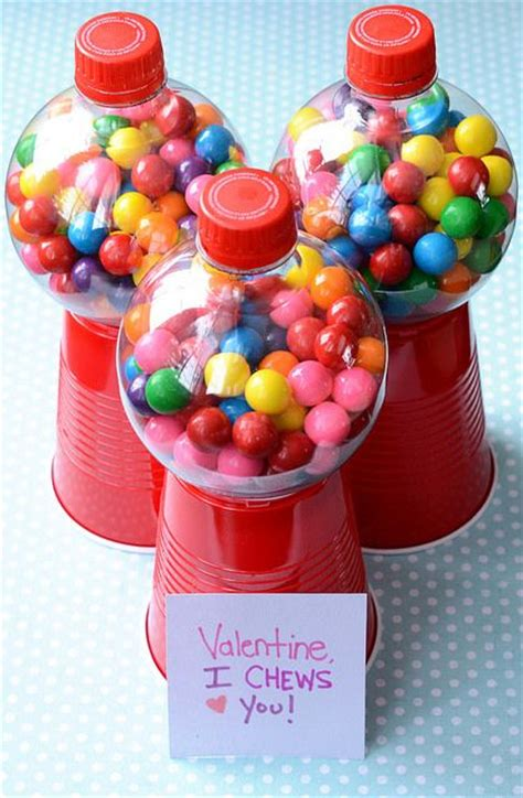 gumball machine valentines she used empty coke bottles but i ve also seen the