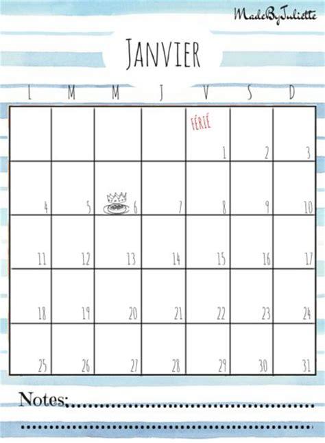 Voir Calendrier 2016 Janvier 2016 Imprimes Le Calendrier Pour Customiser