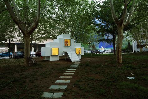 micro house by studio liu lubin installed in beijing park micro house by studio liu lubin installed in beijing park
