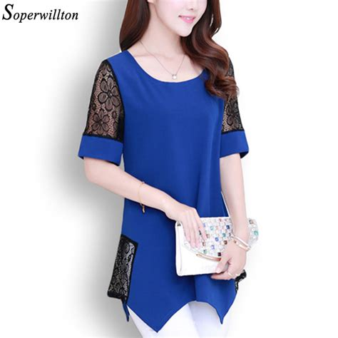 Blouse Ruffle Atasan Murah blouse plus size murah malaysia aliexpress buy soperwillton 2016 new summer