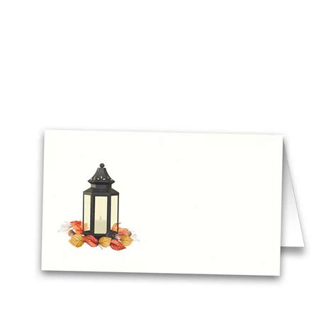 unique place cards tented wedding escort seating cards fall lantern