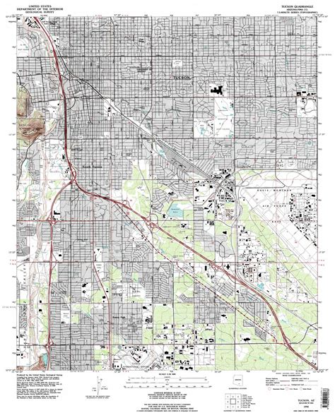 map of tucson tucson topographic map az usgs topo 32110b8