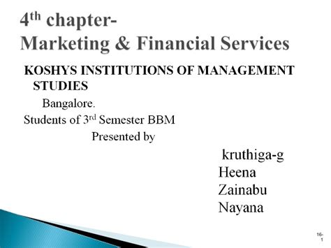 Marketing Financial Service 4th chapter marketing financial services