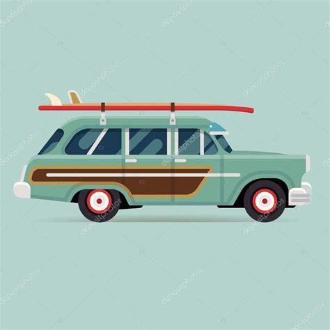 surf car wagon car with surfboards stock vector 169 masha tace