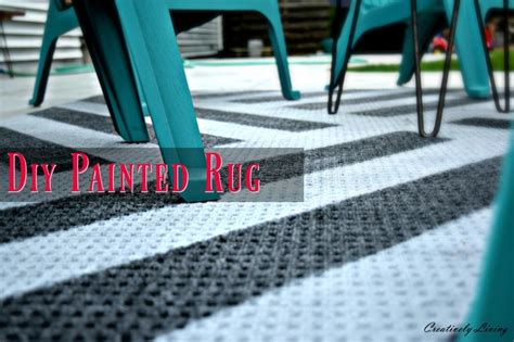 Paint Outdoor Rug by Diy Painted Outdoor Rug Creatively Living