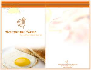 template for breakfast menu vector pictures to pin on