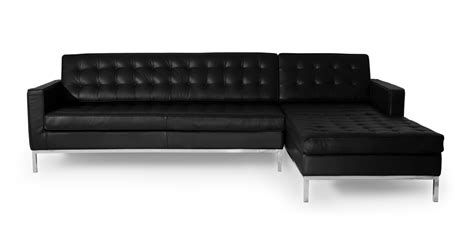 florence knoll sofa ebay florence knoll style sofa sectional right black 100