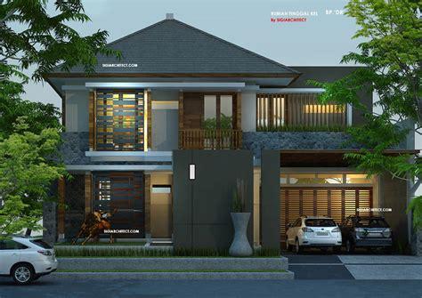 layout villa minimalis desain villa rumah tropis kolam renang amazing