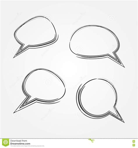 cloud template with lines scrawl illustrations vector stock images