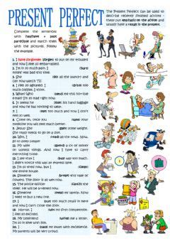 english exercises: present perfect simple