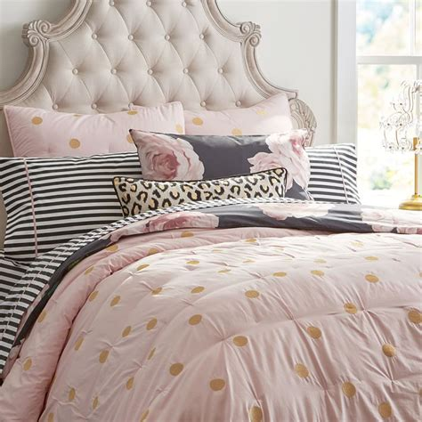 emily and meritt bedding the emily meritt gold dot quilt twin dusty pink