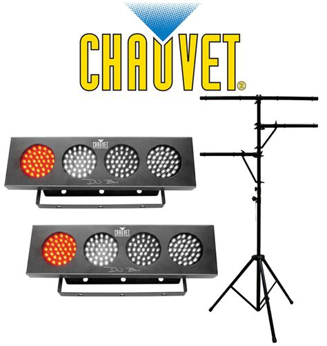 chauvet lighting 2 dj bank multi color led chase light w
