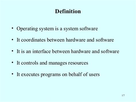 define systemize 3 definition of operating systems