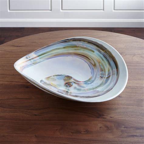 fossili white murano glass bowl reviews crate  barrel