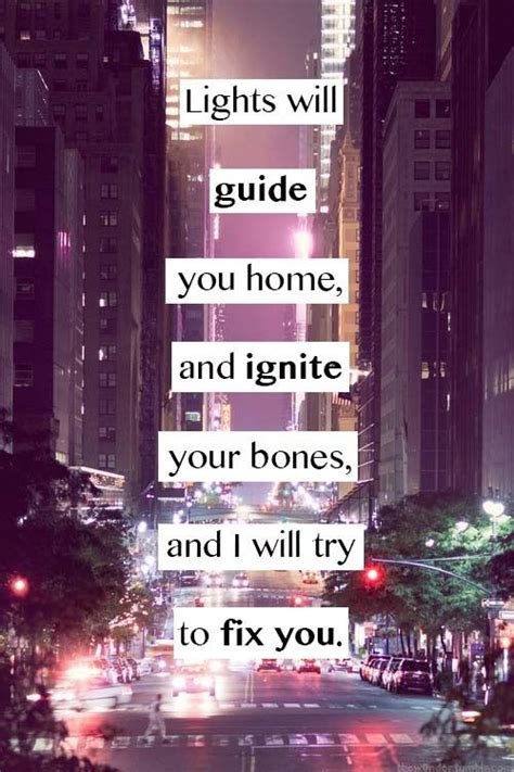 Lights Will Guide You Home Coldplay by 1000 Song Quotes On Song Lyrics Quotes And