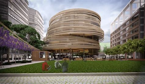 Courtyard Planning Concept kengo kuma plans the darling exchange for sydney