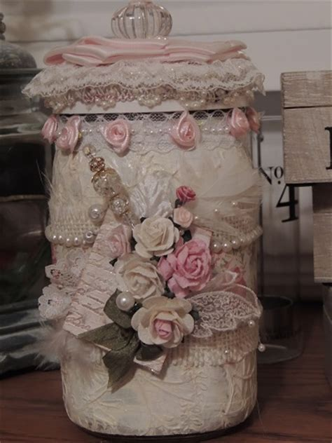 Shabby Chic Jar By Cntrywmnster Cards And Paper Shabby Chic Crafts