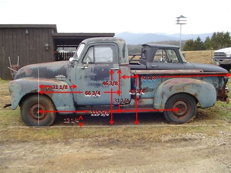a 700 1ton truck 3 in plastic drop cloth and 3 for 3 tons of tap water u003d cheap mobile swimming 1953 chevy gmc advanced design puckup dimensions photo by