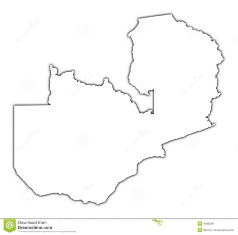 printable map of zambia zambia outline map royalty free stock image image 4486266