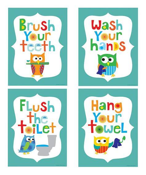 free kids bathroom printables 9 best images of owl bathroom printables free printable