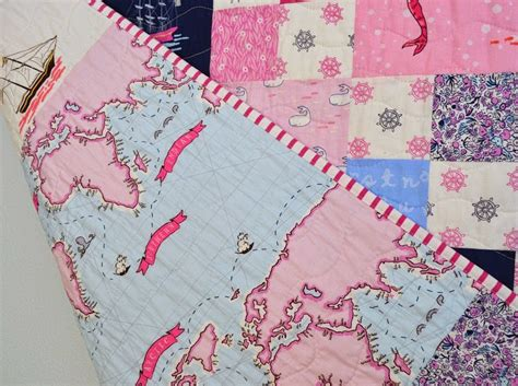 Out To Sea Quilt by The Sewing Out To Sea Baby Quilt