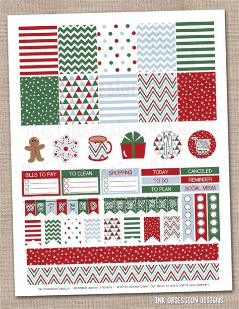 printable calendar holiday stickers 1000 ideas about printable planner stickers on pinterest